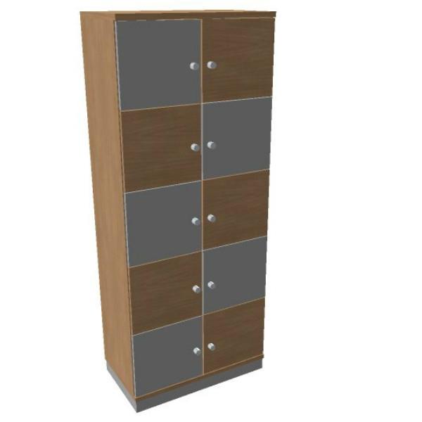 OKA houten lockerkast 10 deurs