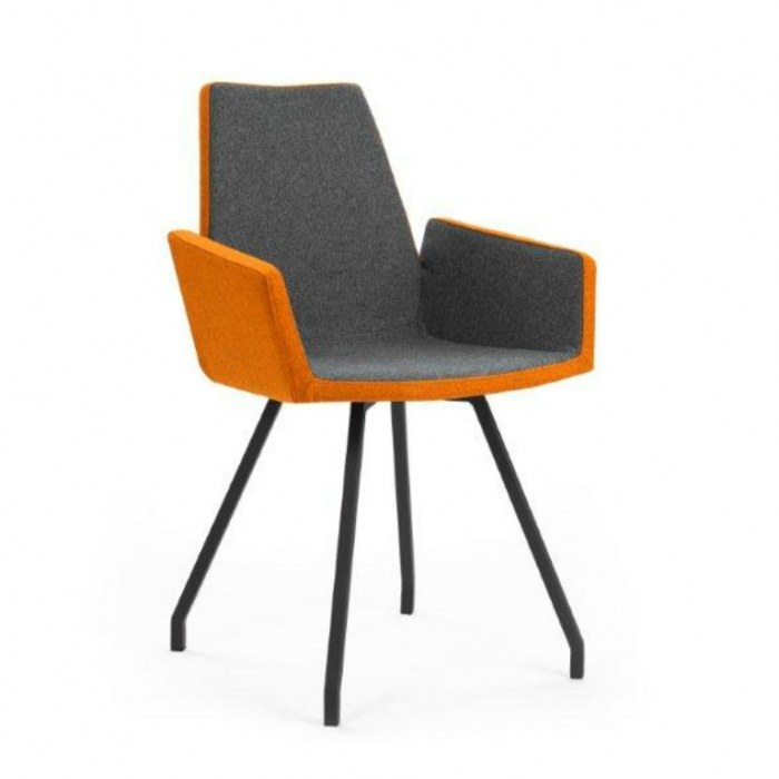 Moods vierpootsstoel Mood-43 met armleggers