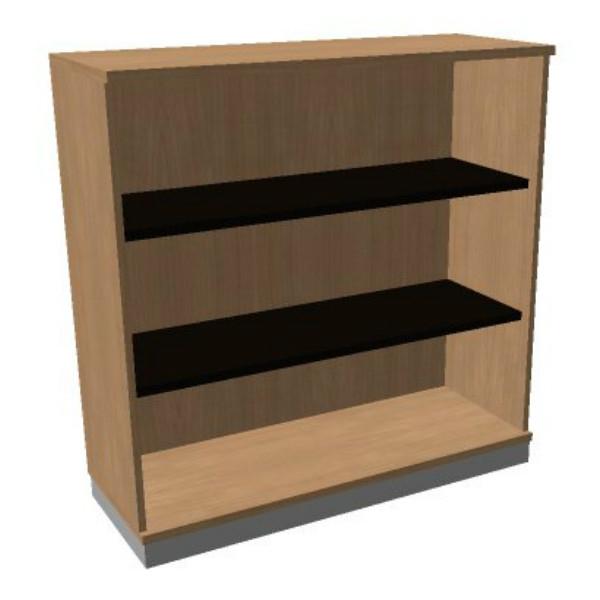 OKA houten open kast 120,3x120x45 cm