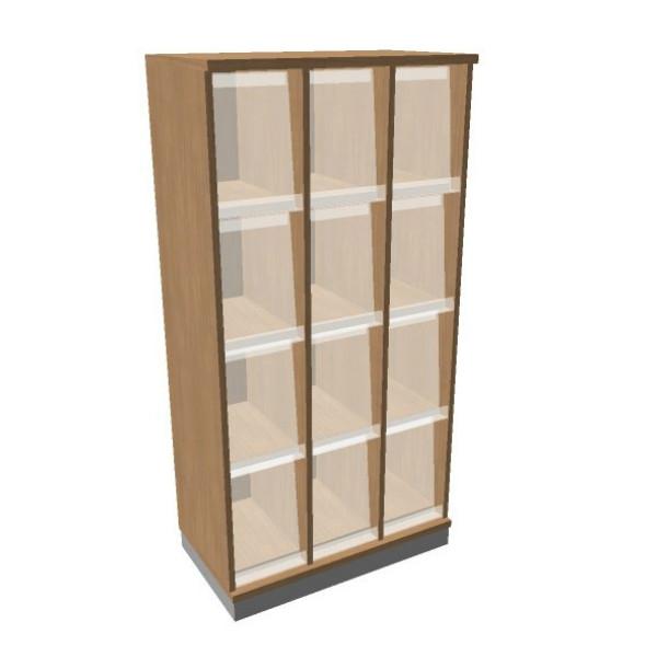 OKA houten documentatiekast 158,7x80x45 cm