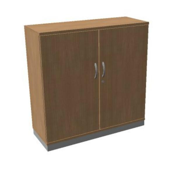 OKA houten draaideurkast 120,3x120x45 cm