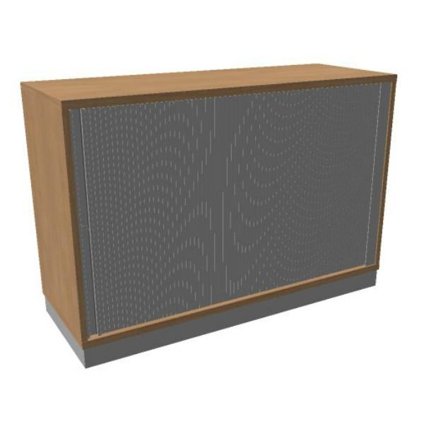 OKA houten jalouziedeurkast 82x120x45 cm