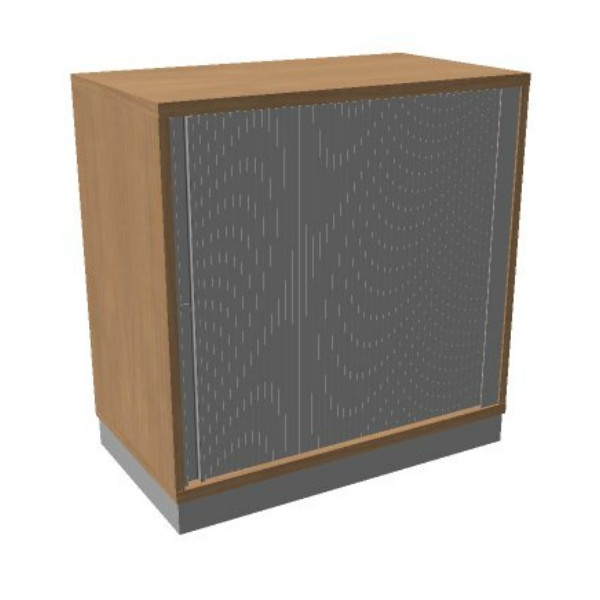 OKA houten jalouziedeurkast 82x80x45 cm
