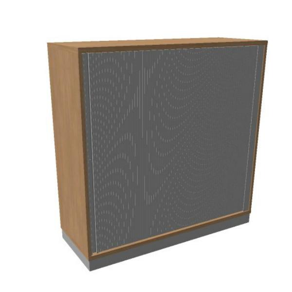 OKA houten jalouziedeurkast 120,3x120x45 cm