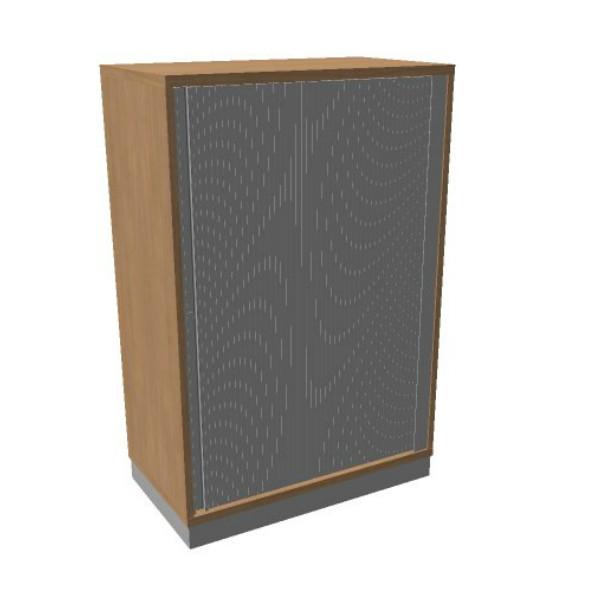 OKA houten jalouziedeurkast 120,3x80x45 cm