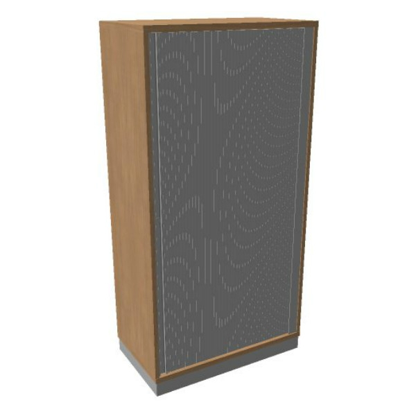 OKA houten jalouziedeurkast 158,7x80x45 cm