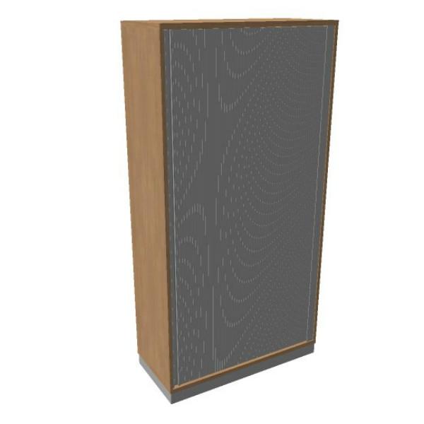 OKA houten jalouziedeurkast 197,1x120x45 cm
