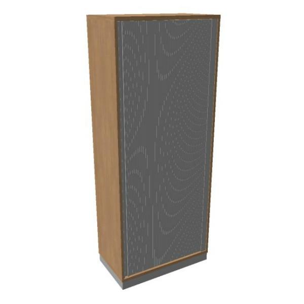 OKA houten jalouziedeurkast 197,1x80x45 cm