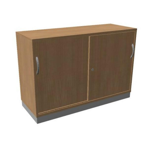OKA houten schuifdeurkast 82x120x45 cm