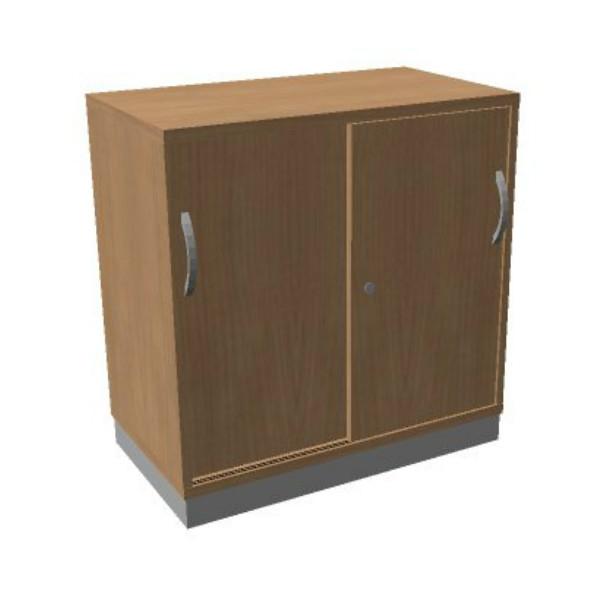 OKA houten schuifdeurkast 82x80x45 cm