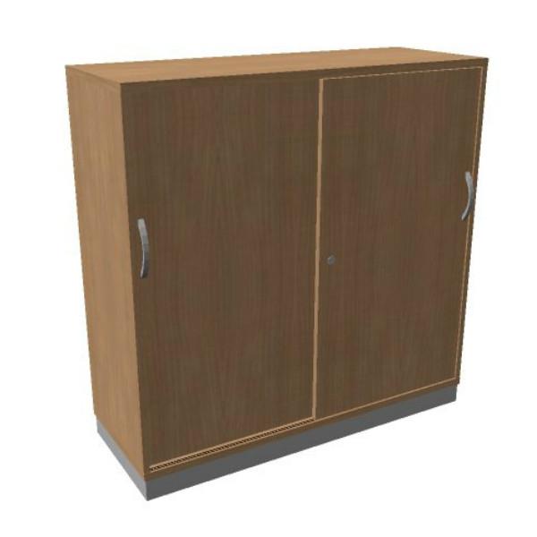 OKA houten schuifdeurkast 120,3x120x45 cm