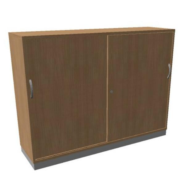 OKA houten schuifdeurkast 120.3x160x45 cm