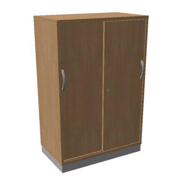 OKA houten schuifdeurkast 120,3x80x45 cm
