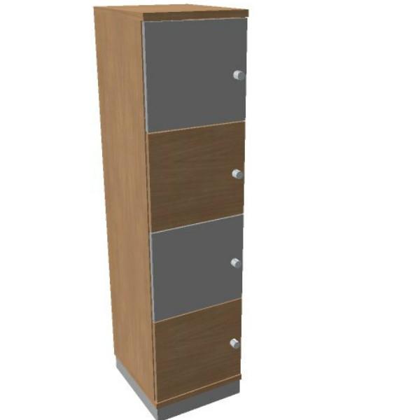 Oka  houten lockerkast 4 deurs