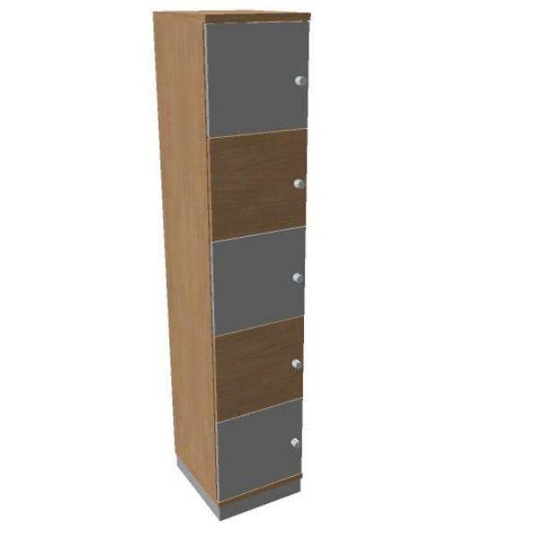 Oka houten  lockerkast 5 deurs