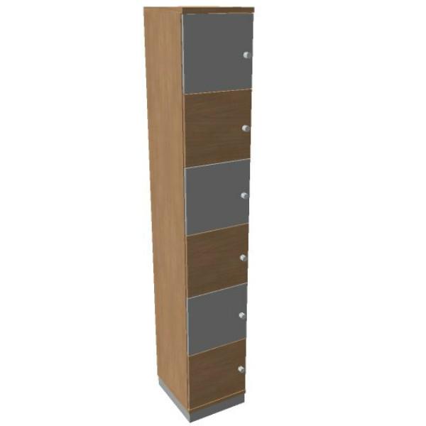 OKA houten lockerkasten 6 deurs