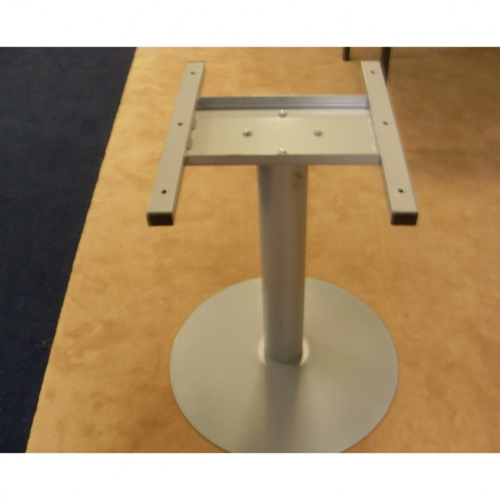 Zuilpoot frame kleur aluminium