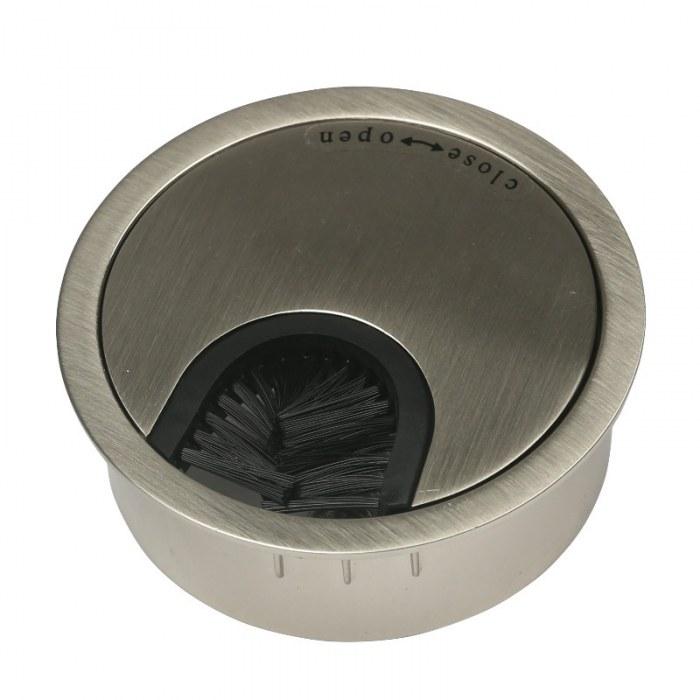 Kabeldoorvoer metaal Ø 60 mm mat chroom