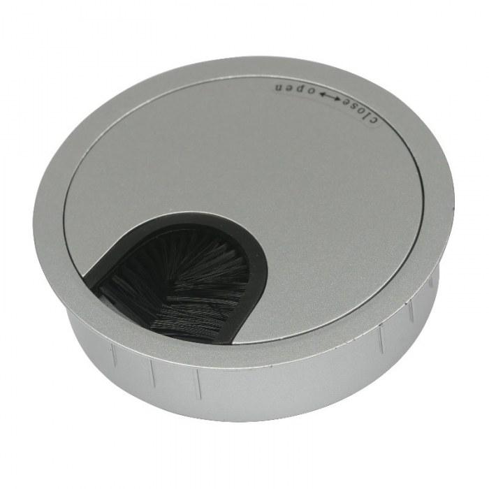 Kabeldoorvoer metaal Ø 80 mm mat chroom