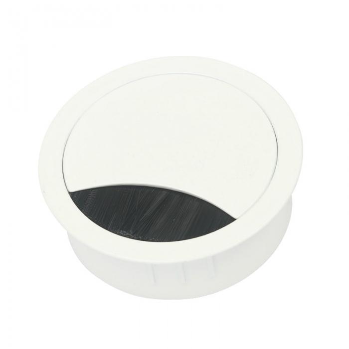 Kabeldoorvoer metaal Ø 60 mm wit gelakt