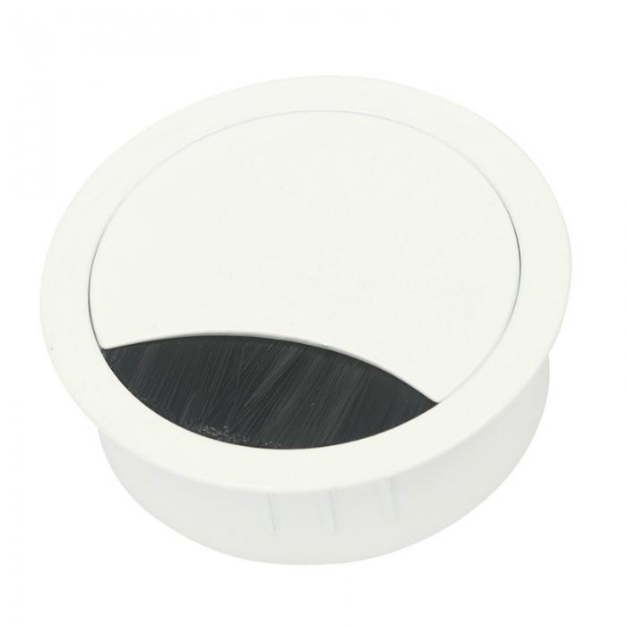 Kabeldoorvoer metaal Ø 80 mm wit gelakt