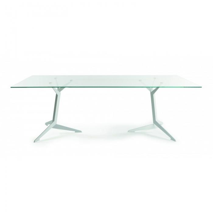 Viasit TRI vergadertafel 200 x 100 cm glazen blad