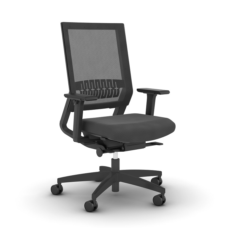 ViaSit Impulse TOO bureaustoel zwart