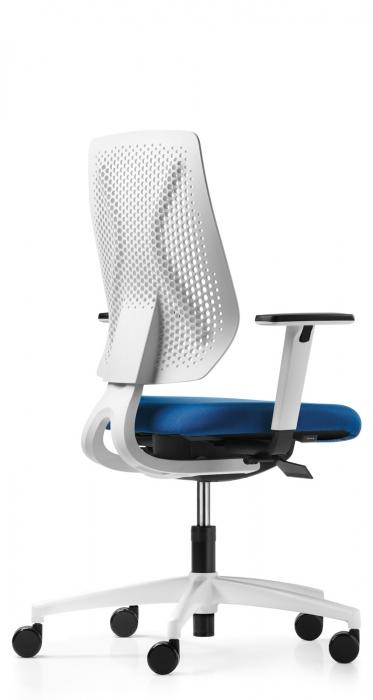 Dauphin Speed-o bureaustoel membraam wit