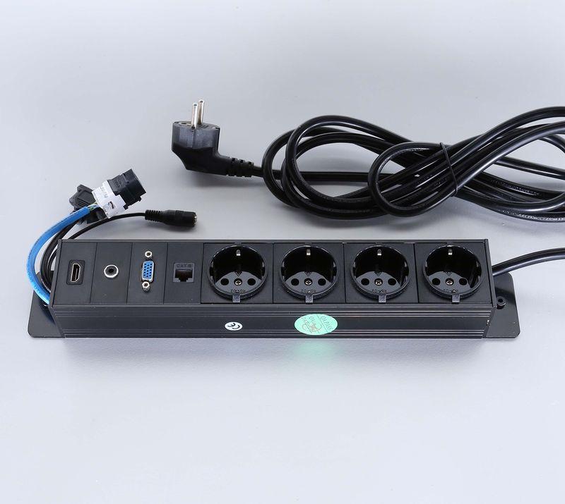 Götessons Powerinlay 4 x Stroom, 1 x Data, 1 x VGA, 1 x Audio en 1 x HDMI