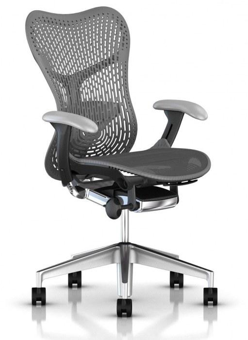 Herman Miller Mirra 2 gepolijst bureaustoel MRF132