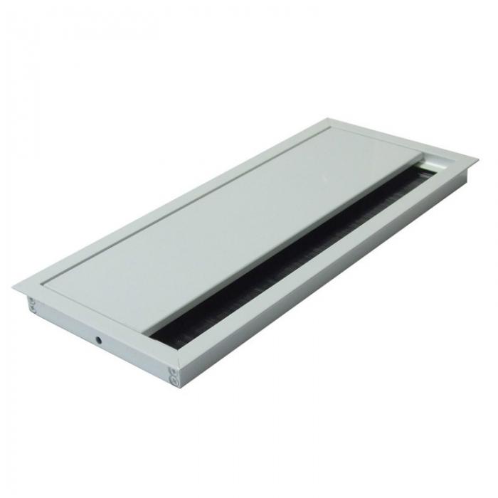 Kabeldoorvoer 100x240x13mm wit met softclose sluiting