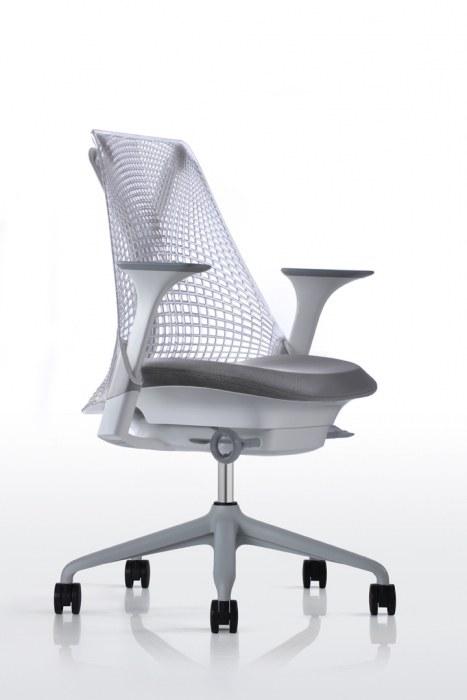 Herman Miller Sayl bureaustoel fog  AS1EA33HA N2 65 BB 63 63 7O081 3