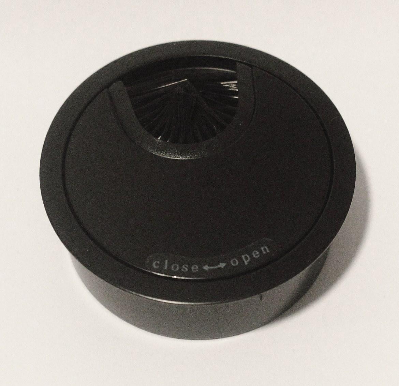 Kabeldoorvoer metaal Ø 66mm mat zwart gelakt   423007.066000022.000 1