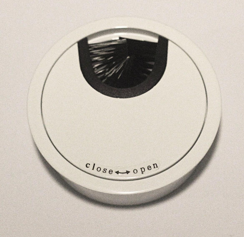 Kabeldoorvoer metaal Ø 66mm wit gelakt  423007.066000022.916 1