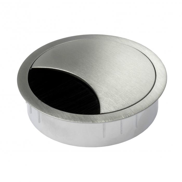 Kabeldoorvoer metaal Ø 80 mm chroom mat  423009.088080023.091 2