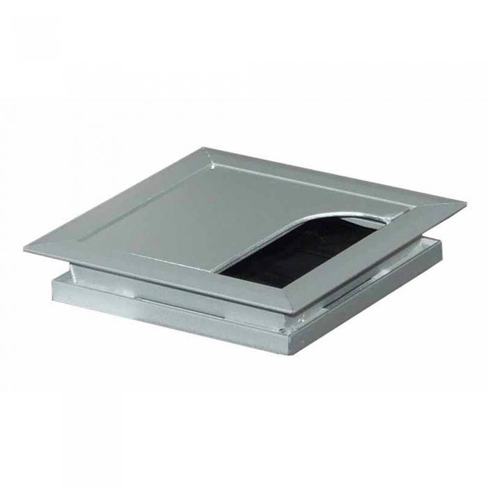 Kabeldoorvoer 80 x 80 x 13 mm aluminium  423011.080080013.000 1