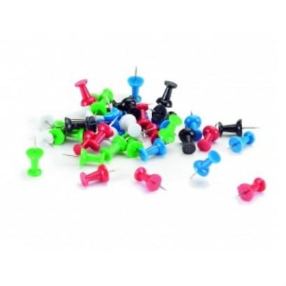 Push pin 200 stuks assorti  7-145299 2