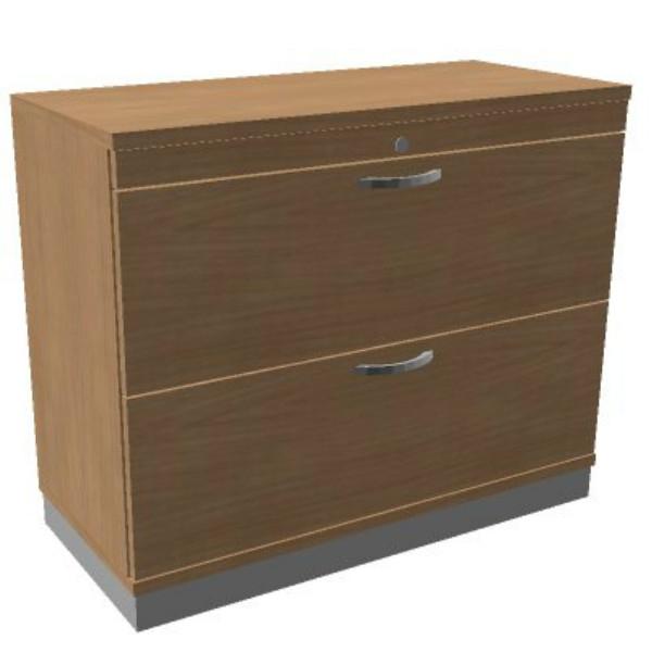Oka houten hangmappenkast  2 laden 100 breed  SBHAC24 1