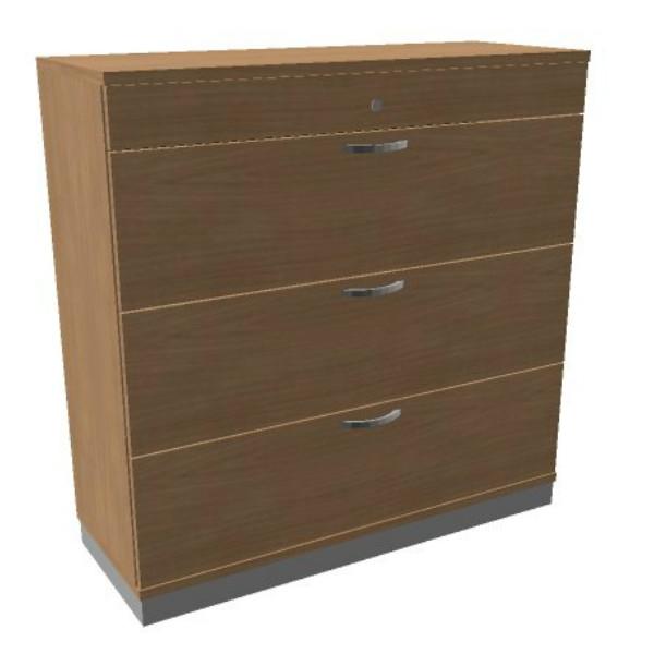 Oka houten hangmappenkast  3 laden 120 breed  SBHAE26 1