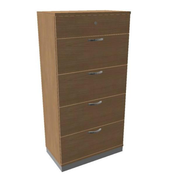 Oka houten hangmappenkast  4 laden 80 breed  SBHAG22 1