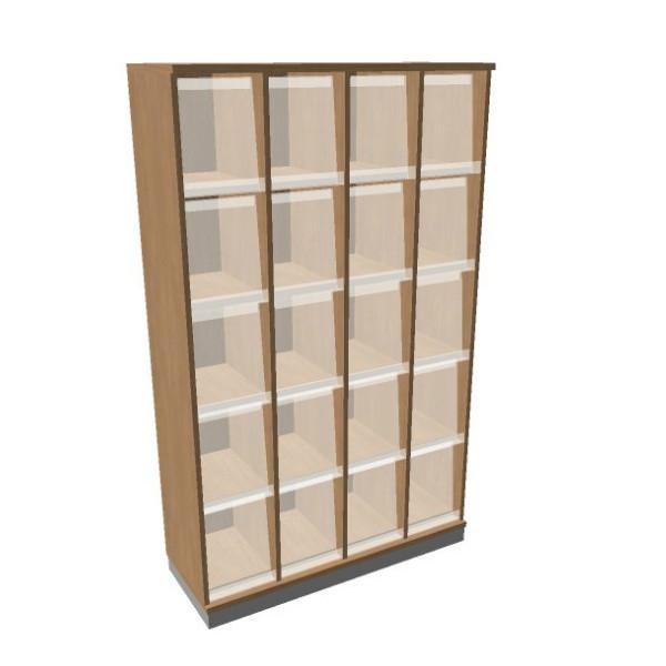 OKA houten documentatiekast 197,1x120x45 cm  SBKAI26 1