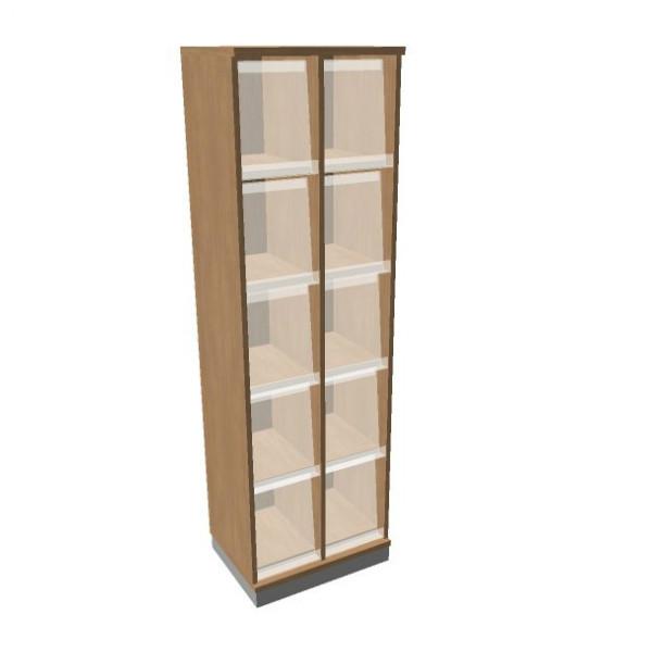 OKA houten documentatiekast 197,1x60x45 cm  SBKAI20 1