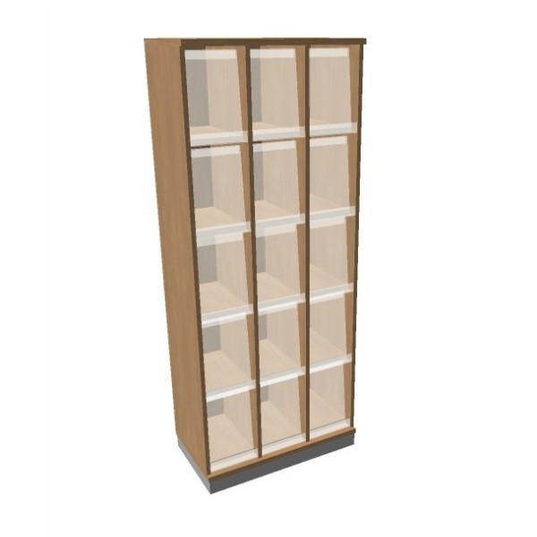 OKA houten documentatiekast 197,1x80x45 cm  SBKAI22 1