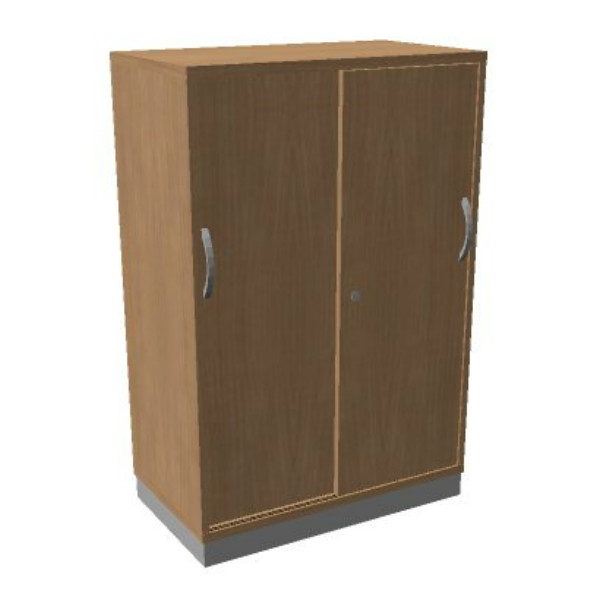 OKA houten schuifdeurkast 120,3x80x45 cm  SBCCE22 1