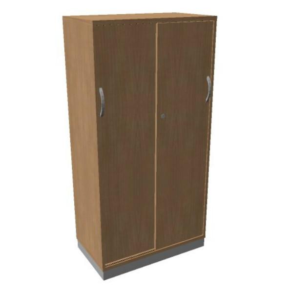 OKA houten schuifdeurkast 158,7x80x45 cm  SBCCG22 1