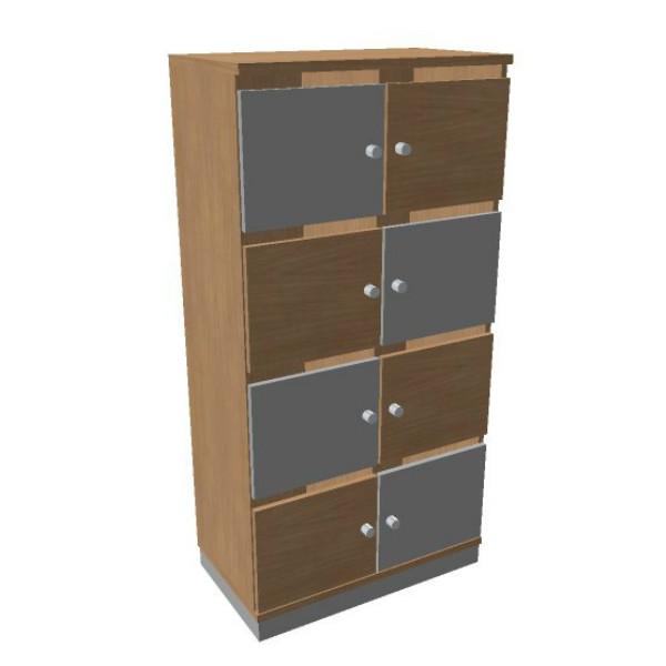 OKA houten lockerkast 8 deurs  SBGCG22 2