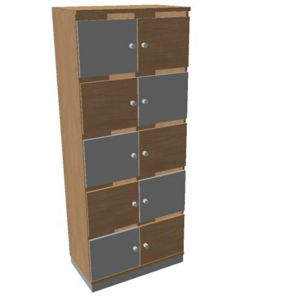 OKA houten lockerkast 10 deurs  SBGCI22 2