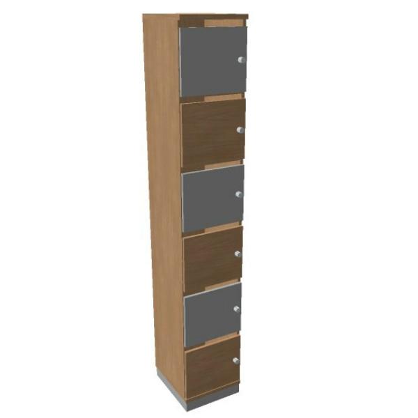 OKA houten lockerkasten 6 deurs  SBGAJ17 2