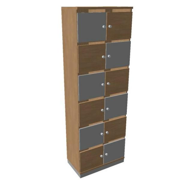 OKA houten lockerkast  12 deurs  SBGCJ22 2