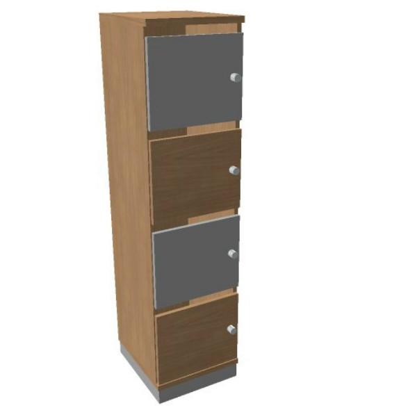 Oka  houten lockerkast 4 deurs  SBGAG17 2